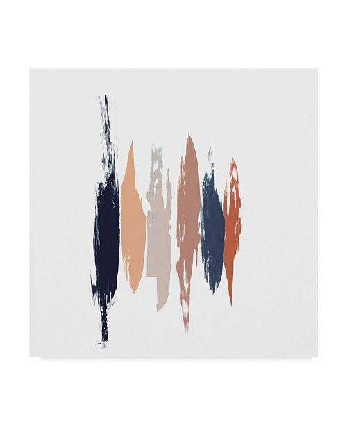 "Trademark Global Jennifer Goldberger Brushed I Canvas Art - 27"" x 33"""