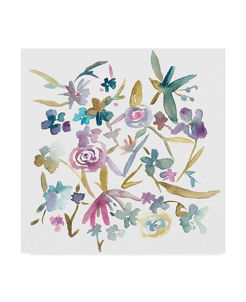 "Trademark Global Chariklia Zarris Concord Florals II Canvas Art - 15"" x 20"""