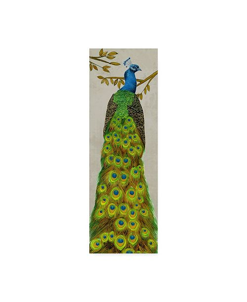 "Trademark Global Melissa Wang Vintage Peacock I Canvas Art - 20"" x 25"""