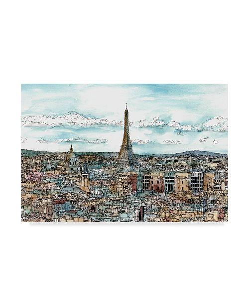 """Trademark Global Melissa Wang European Afternoon II Canvas Art - 37"""" x 49"""""""