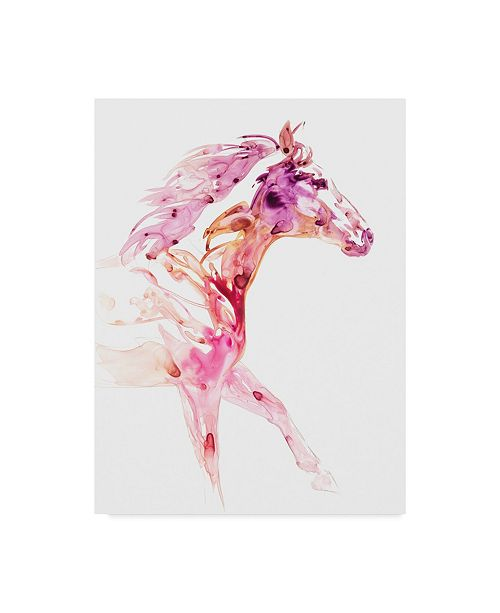 "Trademark Global Julie T. Chapman Garnet Horse IV Canvas Art - 20"" x 25"""