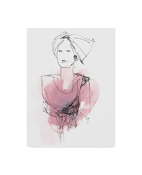"Trademark Global June Erica Vess Fashion Splash V Canvas Art - 37"" x 49"""