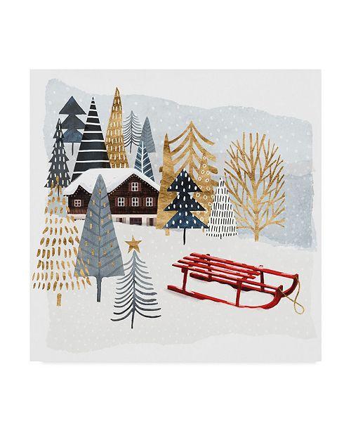 "Trademark Global Victoria Borges Christmas Chalet II Canvas Art - 27"" x 33"""