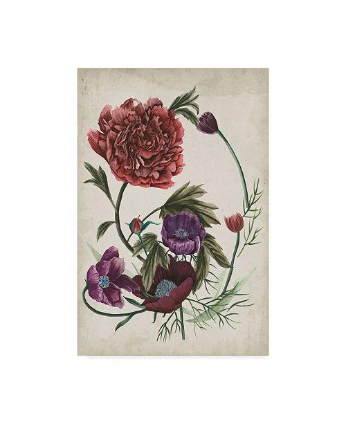 "Trademark Global Melissa Wang Antique Peony I Canvas Art - 20"" x 25"""