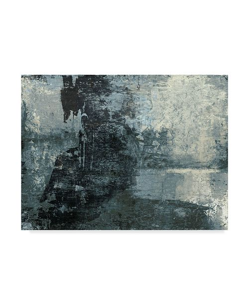 "Trademark Global Studio W Black & Grey & Blue III Canvas Art - 20"" x 25"""