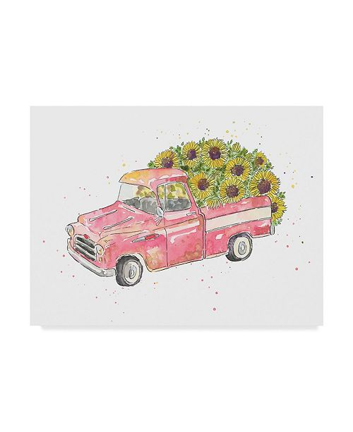 "Trademark Global Catherine Mcguire Flower Truck III Canvas Art - 20"" x 25"""