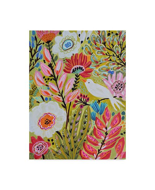 "Trademark Global Karen Fields Garden Birds II Canvas Art - 15"" x 20"""