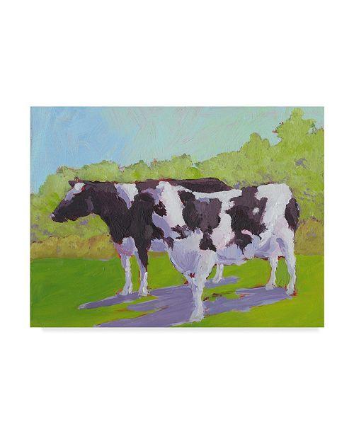 "Trademark Global Carol Young Pasture Cows II Canvas Art - 15"" x 20"""