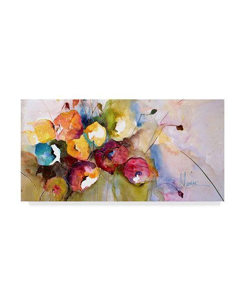 "Trademark Global Leticia Herrera Horizontal Flores V Canvas Art - 15"" x 20"""