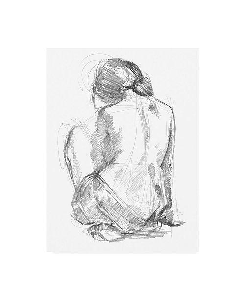 "Trademark Global Jennifer Paxton Parker Sitting Pose I Canvas Art - 15"" x 20"""