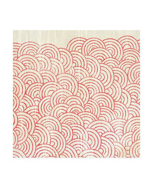 "Trademark Global June Erica Vess Weathered Patterns in Red I Canvas Art - 15"" x 20"""