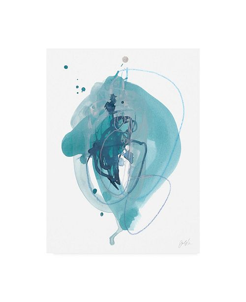 "Trademark Global June Erica Vess Aqua Orbit I Canvas Art - 15"" x 20"""