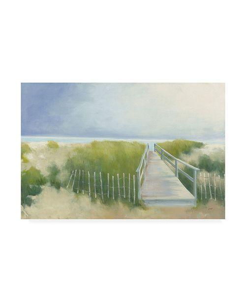 "Trademark Global Julia Purinton Beach Walkway Canvas Art - 20"" x 25"""