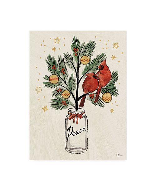 "Trademark Global Janelle Penner Christmas Lovebirds XIII Canvas Art - 20"" x 25"""