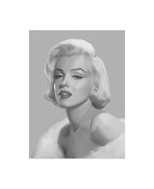 "Trademark Global Chris Consani True Blue Marilyn Canvas Art - 20"" x 25"""