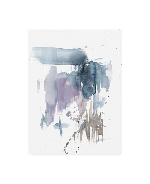 "Trademark Global Jennifer Goldberger Violet and Paynes Splash I Canvas Art - 15"" x 20"""