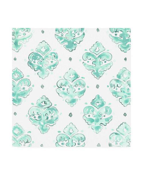 "Trademark Global June Erica Vess Bohemian Textile II Canvas Art - 20"" x 25"""