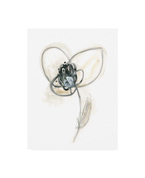 "Trademark Global June Erica Vess Monochrome Floral Study VII Canvas Art - 20"" x 25"""