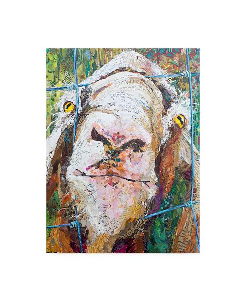 "Trademark Global Elizabeth St. Hilaire Goodness Goat Canvas Art - 20"" x 25"""