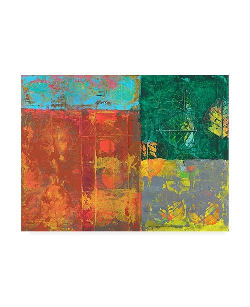 "Trademark Global Elena Ray Colorful Leaf Imprint I Canvas Art - 20"" x 25"""