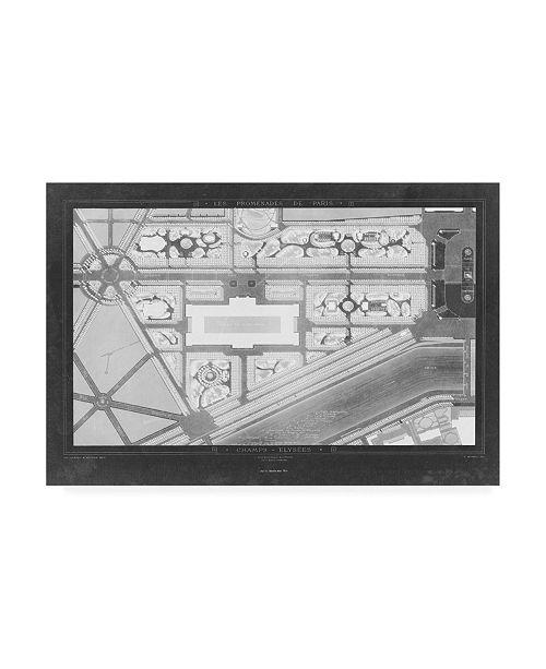 "Trademark Global Unknown French Garden Blueprint IV Canvas Art - 20"" x 25"""