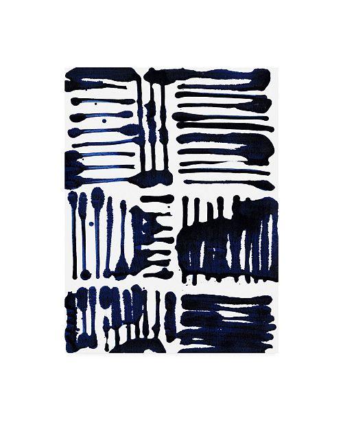 "Trademark Global Jodi Fuchs Indigo Stripes II Canvas Art - 20"" x 25"""