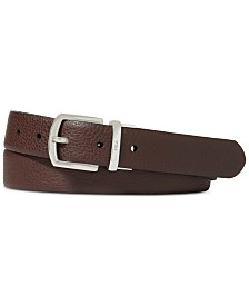 Polo Ralph Lauren Men's Reversible Pebble Leather Belt