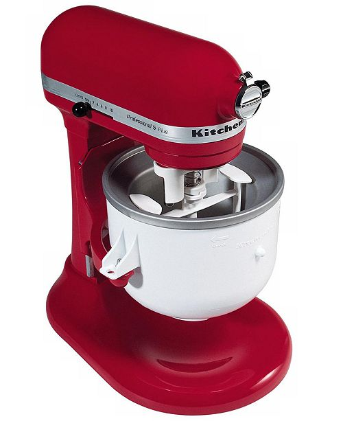 Kitchenaid Kica0wh Ice Cream Maker Stand Mixer Attachment Small Liances Kitchen Macy S
