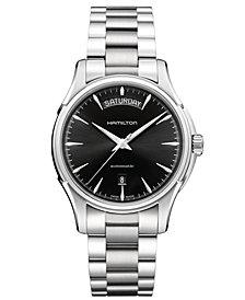Hamilton Watch, Men's Swiss Automatic Jazzmaster Day Date Stainless Steel Bracelet 40mm H32505131