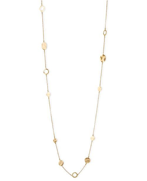 Kenneth Cole New York Necklace, Gold-Tone Circular Station Long Necklace