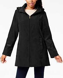 Front-Zip A-Line Raincoat