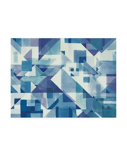 """Trademark Global Wild Apple Graphics Try Angles I Blue Canvas Art - 36.5"""" x 48"""""""