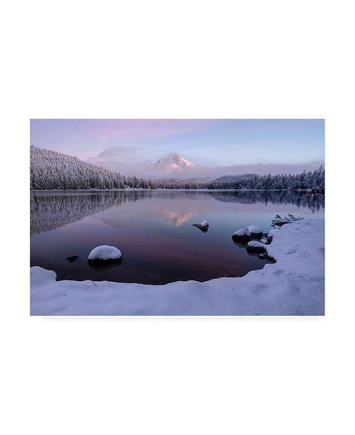 """Trademark Global Shenshen Dou First Snow Meet First Light 2 Canvas Art - 15.5"""" x 21"""""""