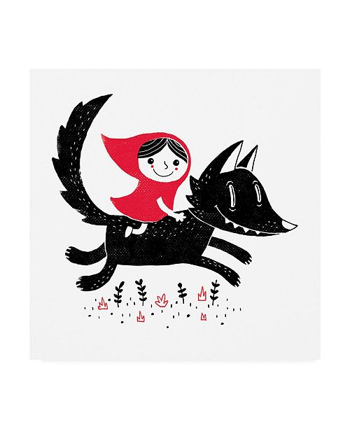 "Trademark Global Michael Buxton Red Riding Canvas Art - 36.5"" x 48"""