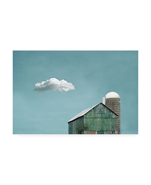 "Trademark Global Brooke T. Ryan Green Barn and Cloud Canvas Art - 36.5"" x 48"""