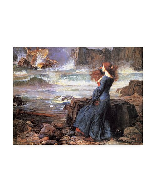 "Trademark Global John William Waterhouse Miranda the Tempest Canvas Art - 19.5"" x 26"""