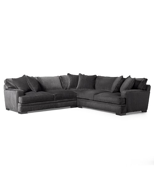Furniture CLOSEOUT! Teddy Fabric 3-Piece Sectional Sofa, Created for Macy's