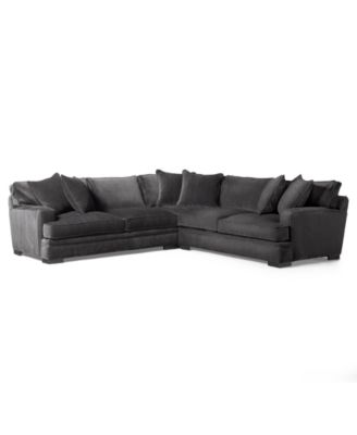 Teddy Fabric 3-Piece Sectional Sofa Created for Macyu0027s  sc 1 st  Macyu0027s : 3 piece sectional sofas - Sectionals, Sofas & Couches