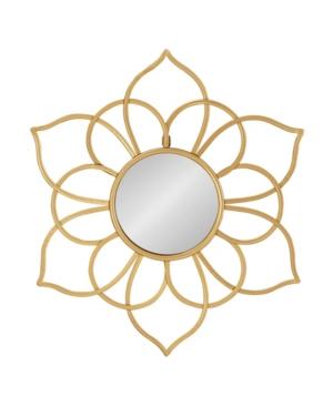 Kate and Laurel Brienne Metal Flower Round Wall Mirror - 24