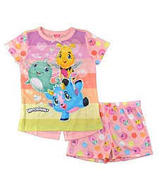 Hatchimal Little and Big Girls 2 Piece Short Pajama Set