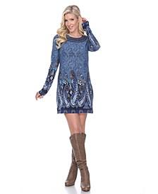 Women's Sandrine Embroidered Sweater Dress