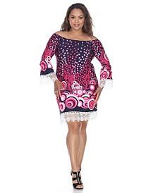 White Mark Women's Plus Size Lenora Dress