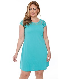 White Mark Women's Plus Size Pelagia Dress