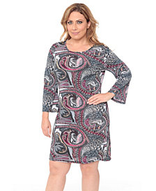 White Mark Women's Plus Size Joanna Dress