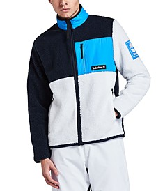 Men's Sherpa Fleece Colorblock Jacket