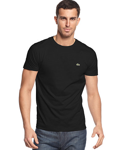 Lacoste Men 39 S Crew Neck Pima Cotton T Shirt T Shirts