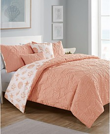 Beach Island 5-Pc. Full/Queen Reversible Comforter Set