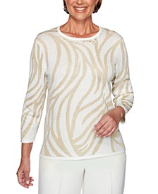Classics  Metallic Animal-Print Sweater