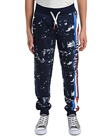 Big Boys Courtney Splatter-Print Fleece Sweatpants