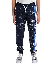Big Boys Courtney Splatter-Print Fleece Sweatpants